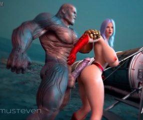 Thanosxxx ธานอสเย็ดหีกัปตันมาร์เวลอย่างซี๊ด xxxตูน3D