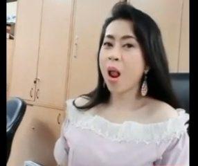 สาวออฟฟิศไทยแอบไลฟ์โชว์สยิวในที่ทำงาน Nong69