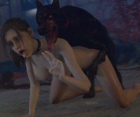Resident Evil 2 XXX หมาซอมบี้เย็ดหีแคลร์อย่างโหด