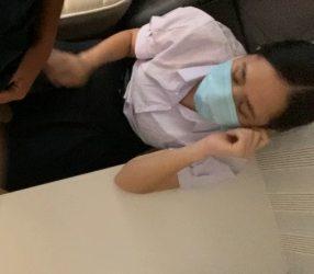 โอ้ยหนูเจ็บ!! หลุดสาวม.ปลายไทยโดนรุ่นพี่จัดคาชุดนักเรียน