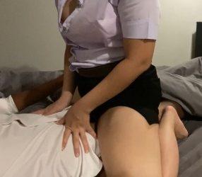 คลิปโป๊นักศึกษา เย็ดกับแฟนในโรงแรม เสียงไทย คลิป-2