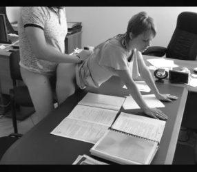 คลิปซ่อนกล้อง! เจ้านายแอบมีsexกับเลขาสาวในห้องทำงาน